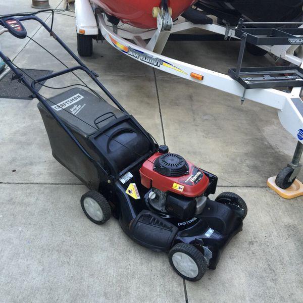 Craftsman 22 Inch Self Propelled Mower With Bag 5 5 Honda