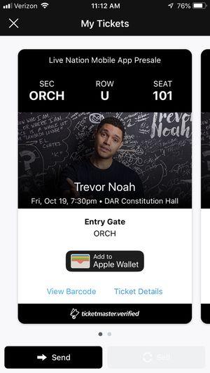 Trevor Noah Tickets (2), Fri, Oct 19th - $200 each for Sale in Washington, DC