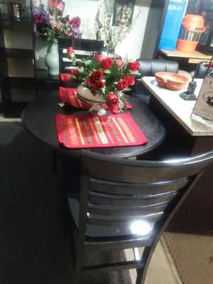 BLACK TABLE WIH 2 CHAIRS for Sale in McLean, VA