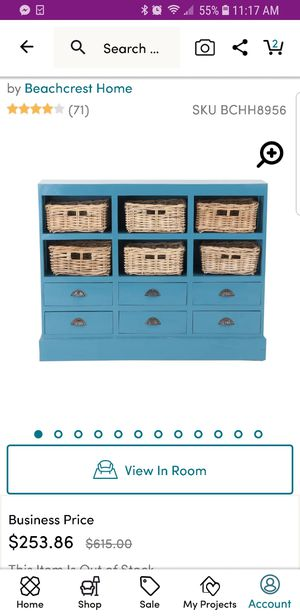 NEW IN BOX: Slim, Blue Country Chic/Nautical Dresser for Sale in Washington, DC