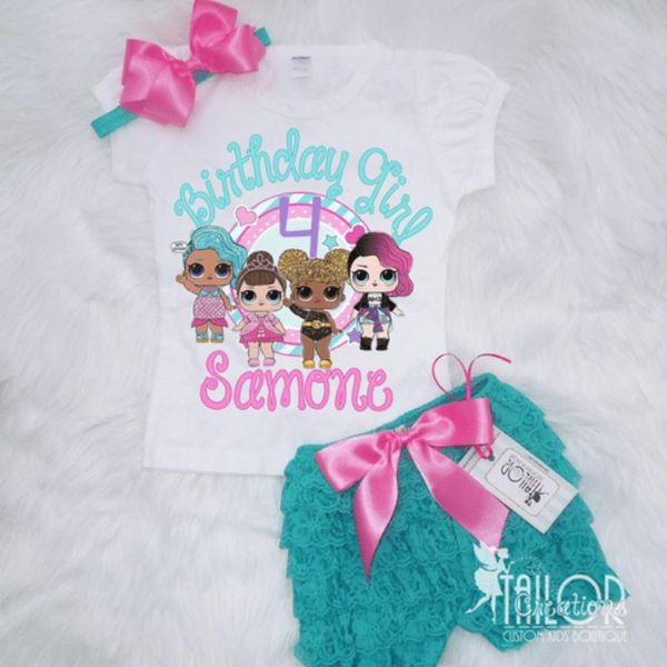 f1c3d831 Lol Surprise dolls birthday set, Lol Surprise dolls birthday shirt ...