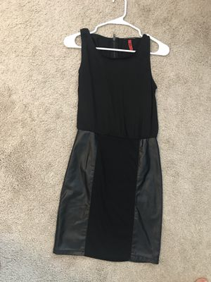 Little black dress with leather and silk inputs. for Sale in Durham, NC