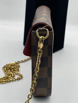 LOUIS VUITTON Monogram Pochette Felicie Chain Wallet Red Thumbnail