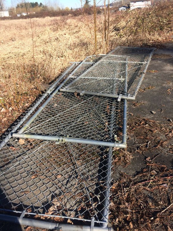 Chain Link Gate 4 X 14 Long Three Gate For Sale In