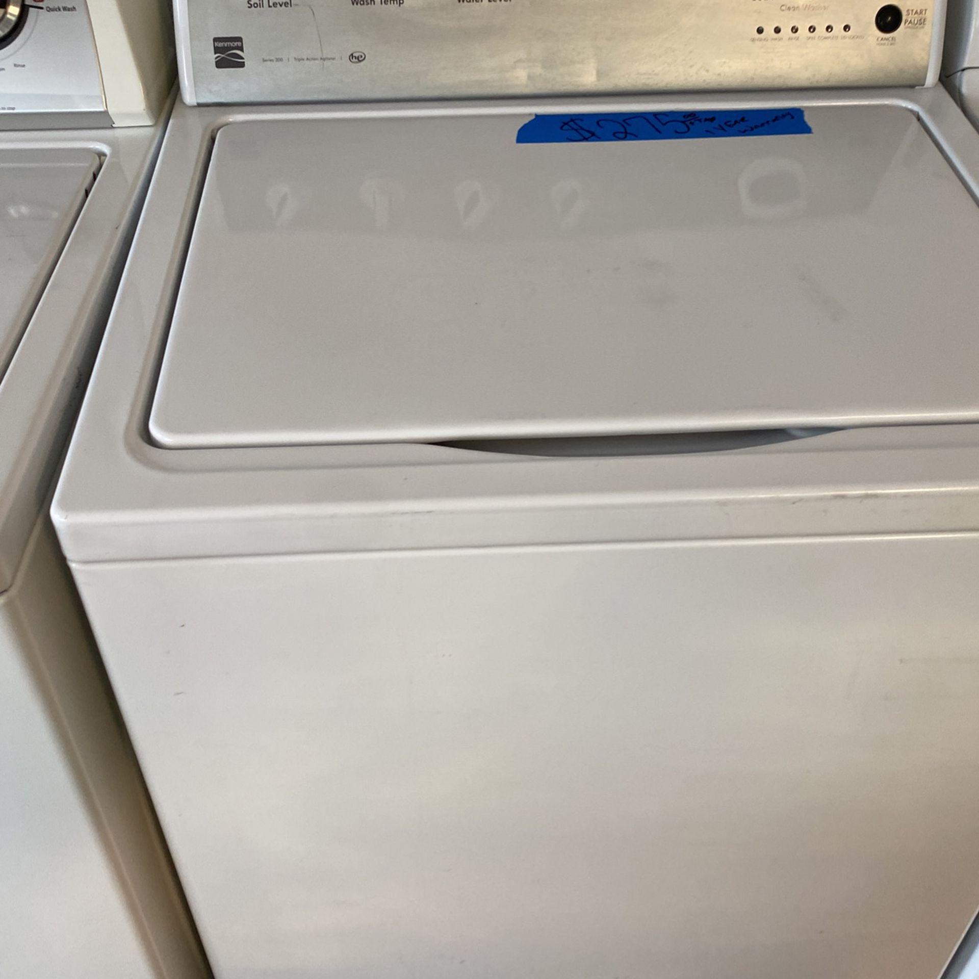 Kenmore Washer 1 Year Warranty , Kenmore Lavadora 1 Año de Garantía