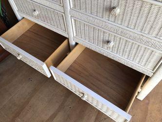 Vintage White Wicker Henry Link Lexington Double Dresser Thumbnail