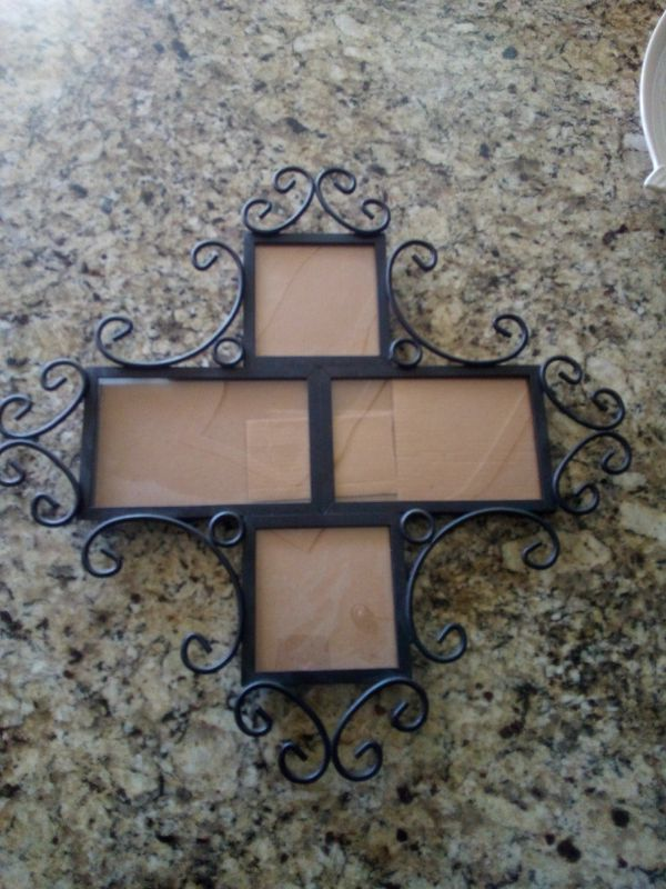 Black Rod Iron Picture Frame Collage Decoration For Sale