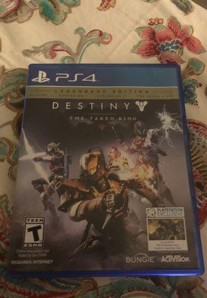 Destiny the taken king ps4 game for Sale in Miami, FL