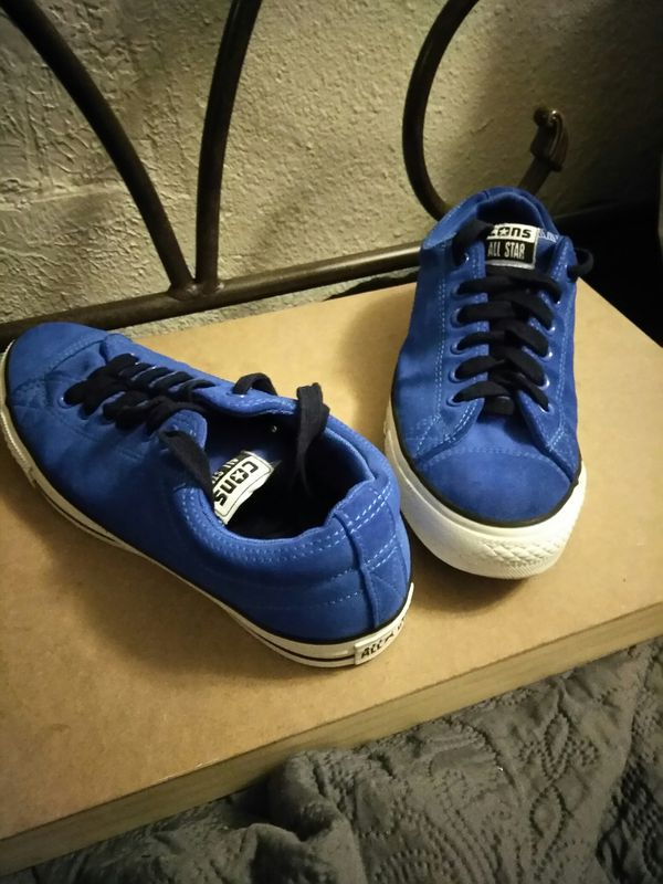e63ec2b44012 Converse All-star Size 8 Men s (Blue Suede) Excellent condition.  15.00 for  Sale in Albuquerque