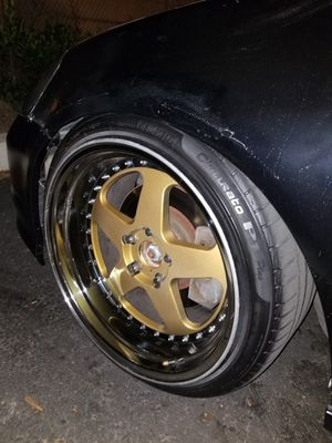 18x10 +15 offset wrapped in pirelli P1s for Sale in San Diego, CA