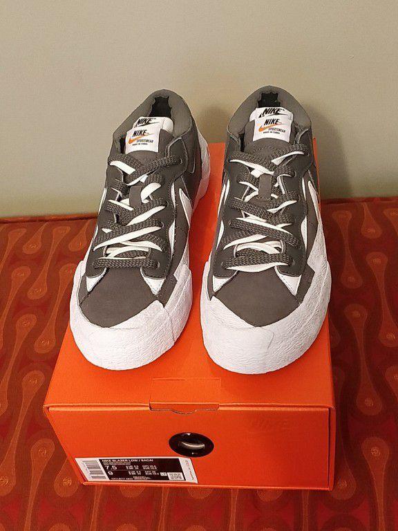 Nike Sacai Blazer Low Iron Grey  Size 7.5