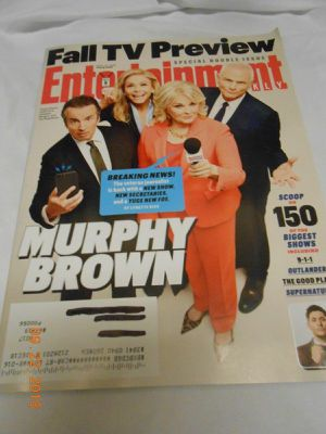 Entertainment Weekly Sep 21, 2018..Fall tv preview..Murphy Brown + Outlander..never read for Sale in Madison Heights, VA