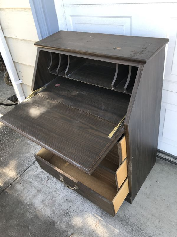 Two Drawer Fold Down Front Desk Cosmetically Challenged For In Fremont Ca Offerup