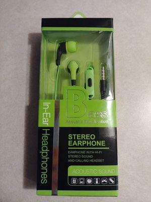New Green 3.5mm AUX Sport Earphones for Sale in Las Vegas, NV
