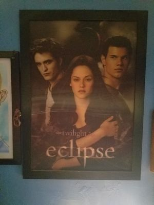Twilight eclipse 3D poster frame for Sale in St. Louis, MO