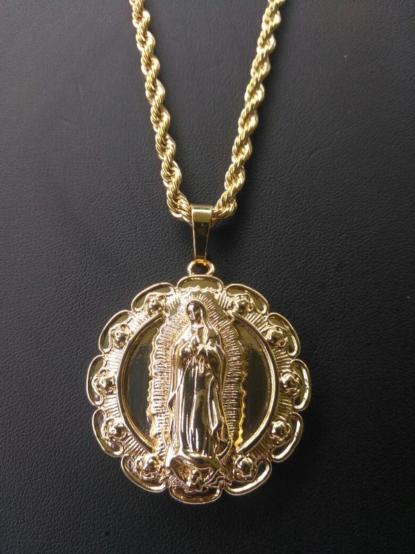 necklace king cz products coin medallion gold kingice ice