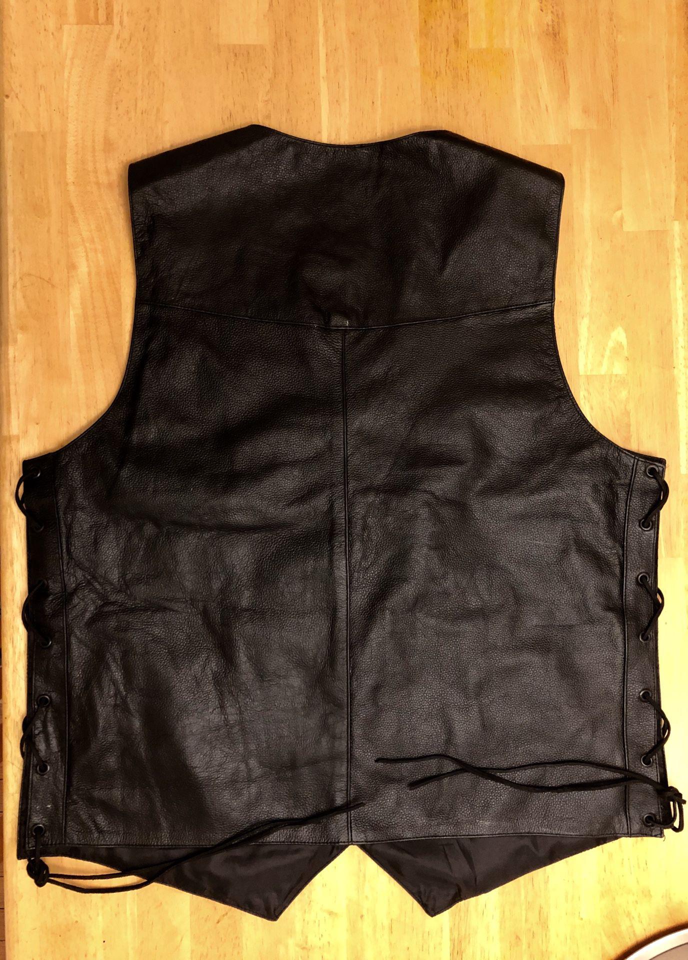 Motorcycle jacket club vest .vest