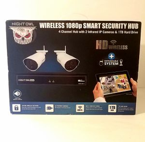 Night Owl 4 Channel 1080p Wireless Smart Security Hub (2) Cameras 1TB Hard Drive NEW !! for Sale in Seattle, WA