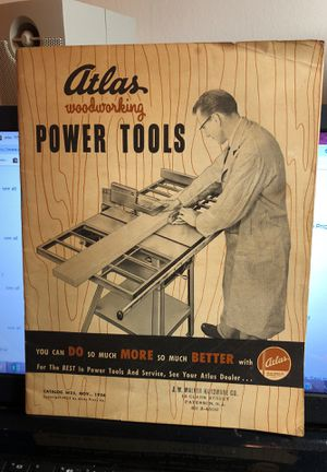 Atlas November 1954 Power Tools Catalog by Walker Hardware 14 Clark St Paterson NJ for Sale in Berlin, NJ