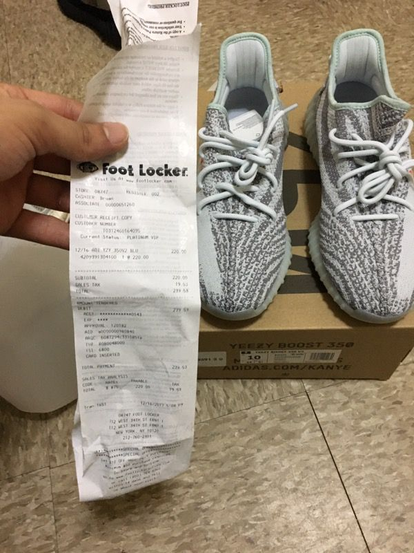low cost dbe23 acdd4 Yeezy blue tint sz 10 for Sale in New York, NY - OfferUp