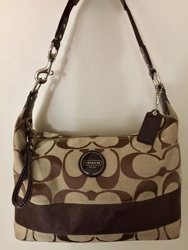 78c424dcc8 Authentic Coach Purse - Coach Signature Hobo - A1176-F17434 for Sale ...