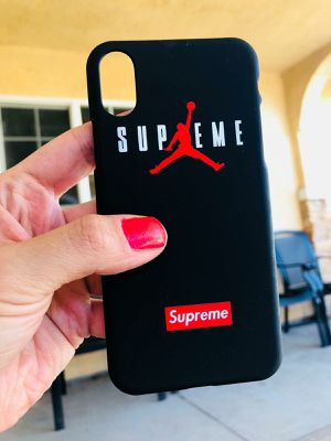 New iphone x xs 10 case red Supreme jordans x hype bape hypebeast bart for Sale in San Bernardino, CA