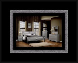 11pc Grey Marley bedroom set with mattress for Sale in Hyattsville, MD