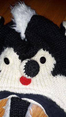 Winter skunk hat Thumbnail