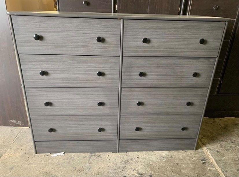 grey 8 drawer dresser $200