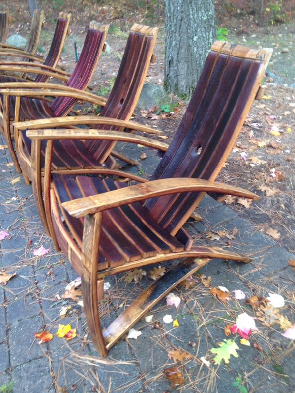 Chairs Red Wine Barrel Adirondak For Sale In Gaylord Mi Offerup