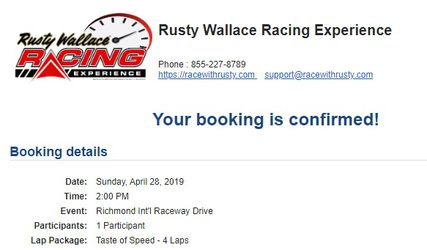 Rusty Wallace Racing Experience Thumbnail