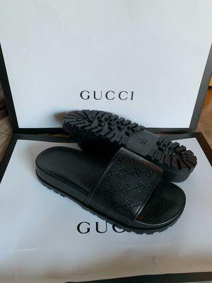 e120339e0 BLACK GG PRINT SLIDES !! INBOX ME for Sale in Boca Raton, FL