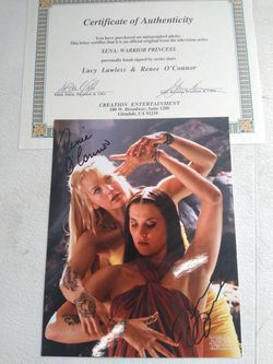Xena TV Show Autographed Photos Thumbnail