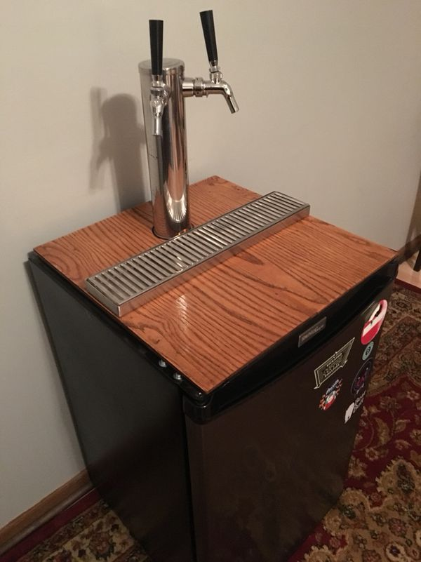Dual Tap Kegerator with Perlick Faucets and Accessories (Appliances ...