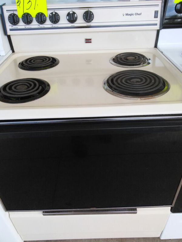 Coil Top stove bisque magic chef works great. Warranty. Delivery ...