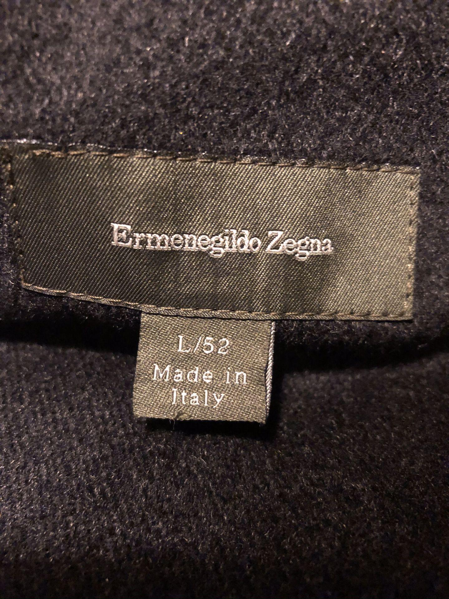 Zegna Cashmere Lined Coat L