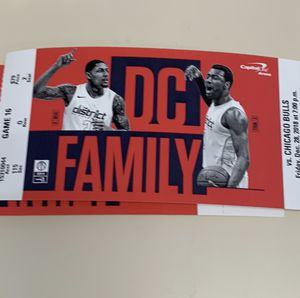 Dec 28th 2 tickets Washington Wizards vs Chicago Bulls for Sale in undefined