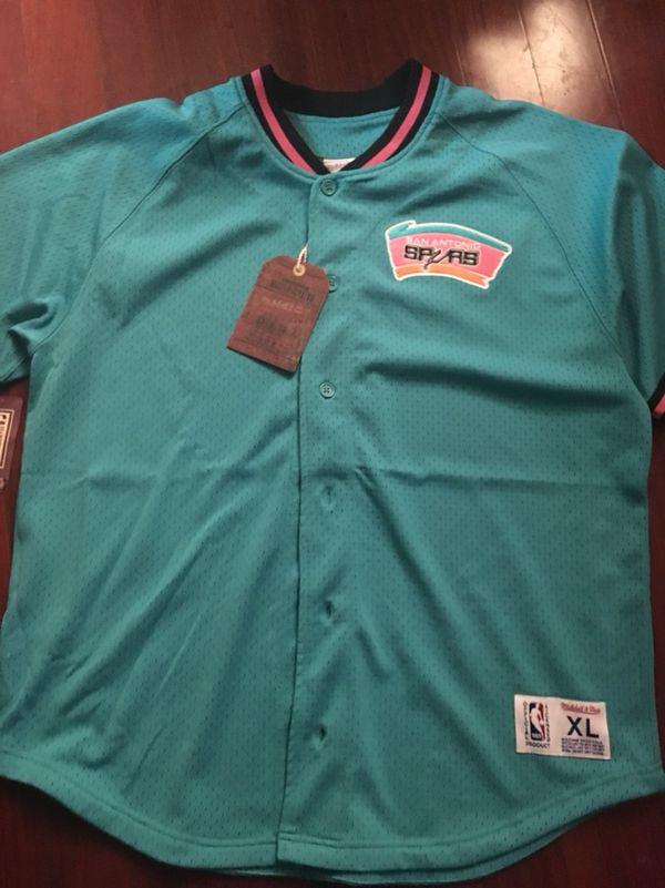 1ce813b386fc 65990 81e2e  where to buy spurs fiesta jersey. new mitchell ness. msrp 100. san  antonio