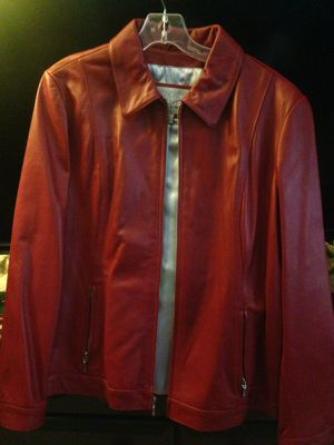 Red women wilsons leather jacket for Sale in Rockville, MD
