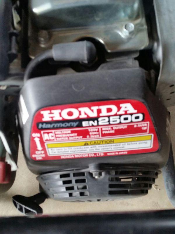 Honda Harmony 2 5 Kw Model En 2500 Generator