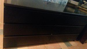 Like new solid wood black dresser for Sale in Silver Spring, MD