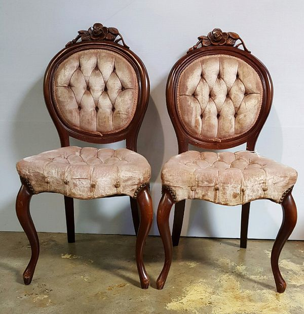 set of 6 pelham shell and leckie victorian parlor chairs for sale in