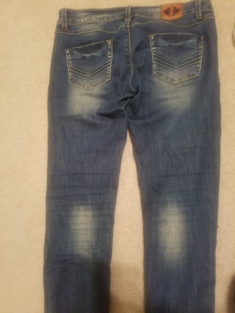 Jeans skinny pants patches distressed 30