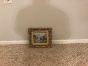ART WINTER SCENE OIL PAINTING for Sale in Herndon, VA