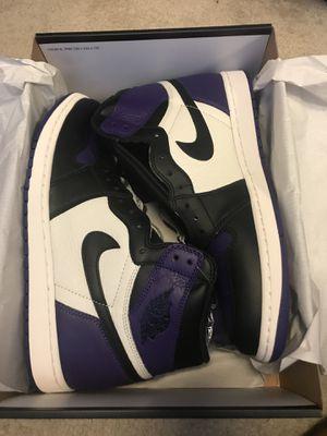 Jordan Retro 1 Court Purple for Sale in Woodbridge, VA