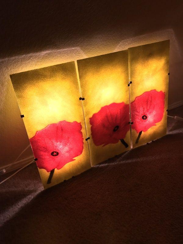 "3 Ikea Gyllen 56 Light Lamp Wall Sconce 22"" Shades"