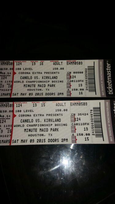 Tickets para la pelea del Canelo Alvarez