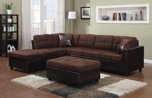 New microfiber sofa sectional (no ottoman) for Sale in Boca Raton, FL