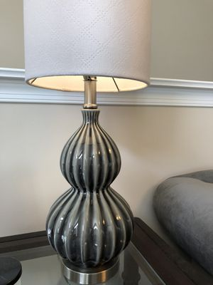 Small gray lamp w/ shade (retail $43) for Sale in Sterling, VA