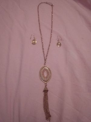 Used, Matching necklace & earrings set (costume jewelry) for sale  Wichita, KS